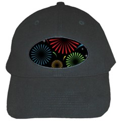 Fireworks With Star Vector Black Cap