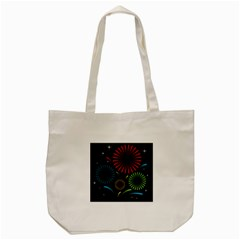 Fireworks With Star Vector Tote Bag (cream)