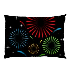 Fireworks With Star Vector Pillow Case