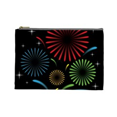 Fireworks With Star Vector Cosmetic Bag (large)