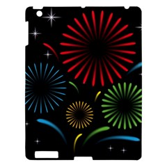 Fireworks With Star Vector Apple Ipad 3/4 Hardshell Case