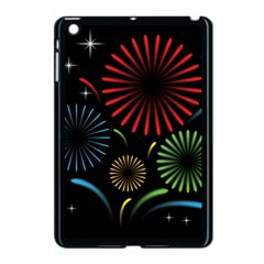Fireworks With Star Vector Apple Ipad Mini Case (black)