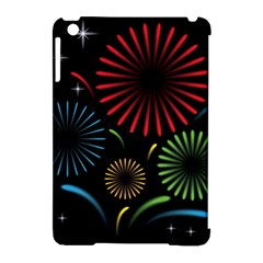 Fireworks With Star Vector Apple Ipad Mini Hardshell Case (compatible With Smart Cover)
