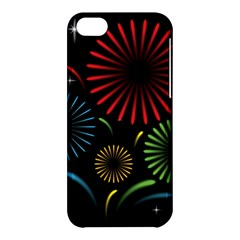 Fireworks With Star Vector Apple Iphone 5c Hardshell Case