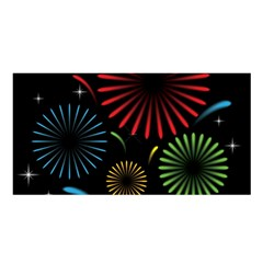 Fireworks With Star Vector Satin Shawl