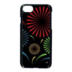 Fireworks With Star Vector Apple Iphone 7 Seamless Case (black)
