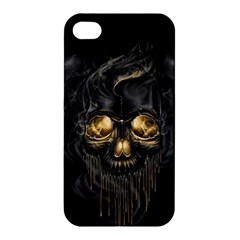Art Fiction Black Skeletons Skull Smoke Apple Iphone 4/4s Premium Hardshell Case