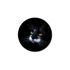 Face Black Cat Golf Ball Marker (10 Pack) by BangZart