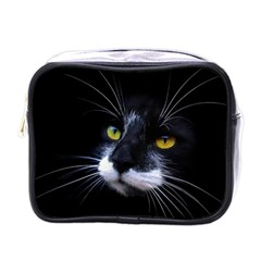 Face Black Cat Mini Toiletries Bags by BangZart