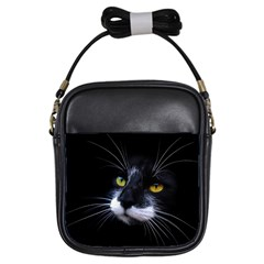 Face Black Cat Girls Sling Bags by BangZart