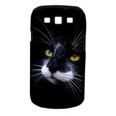 Face Black Cat Samsung Galaxy S Iii Classic Hardshell Case (pc+silicone)