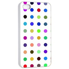 Circle Pattern Apple Iphone 4/4s Seamless Case (white)