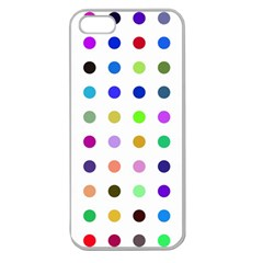 Circle Pattern Apple Seamless Iphone 5 Case (clear)