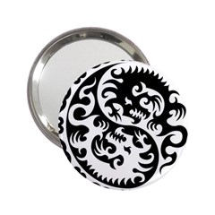 Ying Yang Tattoo 2 25  Handbag Mirrors by BangZart