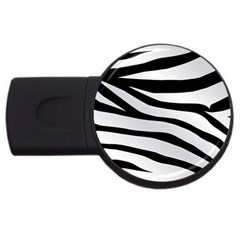 White Tiger Skin Usb Flash Drive Round (2 Gb) by BangZart