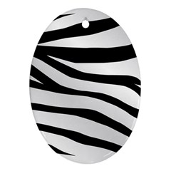 White Tiger Skin Oval Ornament (two Sides) by BangZart