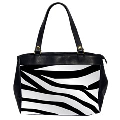 White Tiger Skin Office Handbags (2 Sides)  by BangZart