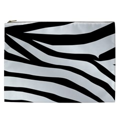 White Tiger Skin Cosmetic Bag (xxl)