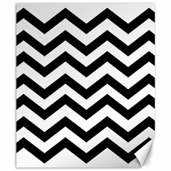 Black And White Chevron Canvas 8  X 10
