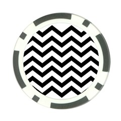 Black And White Chevron Poker Chip Card Guard (10 Pack) by BangZart