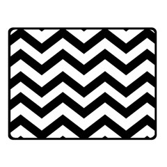 Black And White Chevron Fleece Blanket (small) by BangZart