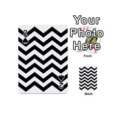 Black And White Chevron Playing Cards 54 (mini)  by BangZart