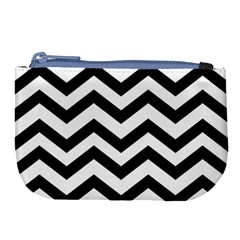 Black And White Chevron Large Coin Purse by BangZart