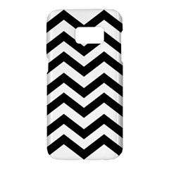 Black And White Chevron Samsung Galaxy S7 Hardshell Case
