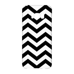 Black And White Chevron Samsung Galaxy S8 Hardshell Case