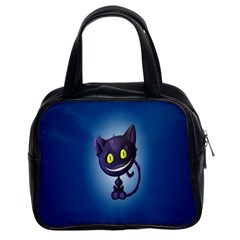Funny Cute Cat Classic Handbags (2 Sides)