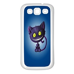Funny Cute Cat Samsung Galaxy S3 Back Case (white)