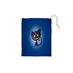 Funny Cute Cat Drawstring Pouches (xs)  by BangZart
