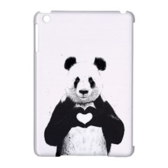 Panda Love Heart Apple Ipad Mini Hardshell Case (compatible With Smart Cover)