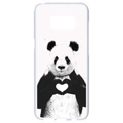 Panda Love Heart Samsung Galaxy S8 White Seamless Case