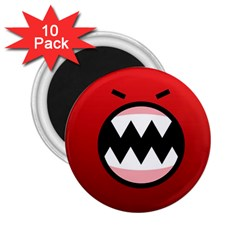 Funny Angry 2 25  Magnets (10 Pack)  by BangZart