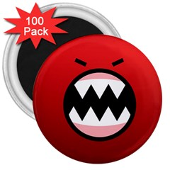 Funny Angry 3  Magnets (100 Pack) by BangZart