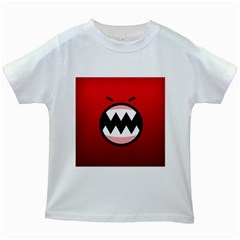 Funny Angry Kids White T Shirts by BangZart