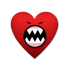 Funny Angry Heart Magnet by BangZart