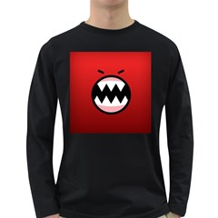 Funny Angry Long Sleeve Dark T Shirts by BangZart