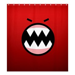 Funny Angry Shower Curtain 66  X 72  (large)  by BangZart