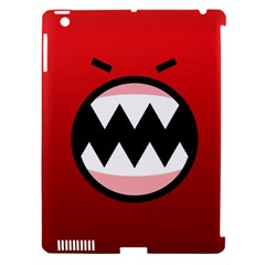 Funny Angry Apple Ipad 3/4 Hardshell Case (compatible With Smart Cover) by BangZart