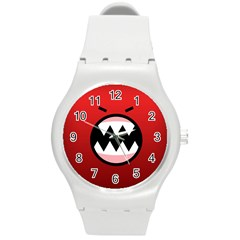 Funny Angry Round Plastic Sport Watch (m) by BangZart