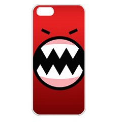 Funny Angry Apple Iphone 5 Seamless Case (white) by BangZart
