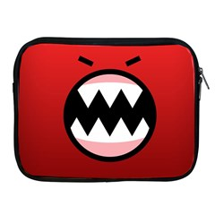 Funny Angry Apple Ipad 2/3/4 Zipper Cases by BangZart