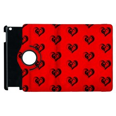 Lovely Hearts 17b Apple Ipad 2 Flip 360 Case