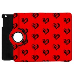 Lovely Hearts 17b Apple Ipad Mini Flip 360 Case