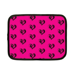Lovely Hearts 17a Netbook Case (small)  by MoreColorsinLife