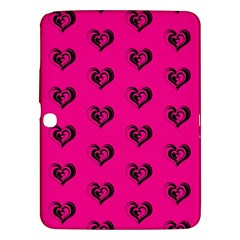 Lovely Hearts 17a Samsung Galaxy Tab 3 (10 1 ) P5200 Hardshell Case  by MoreColorsinLife