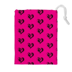 Lovely Hearts 17a Drawstring Pouches (extra Large)