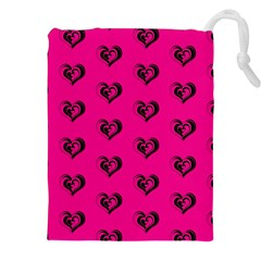 Lovely Hearts 17a Drawstring Pouches (xxl) by MoreColorsinLife